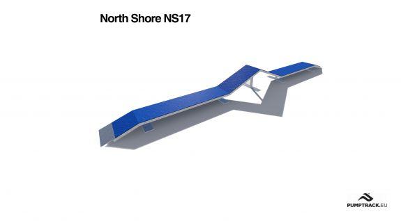 Render kładki rowerowej North Shore NS17