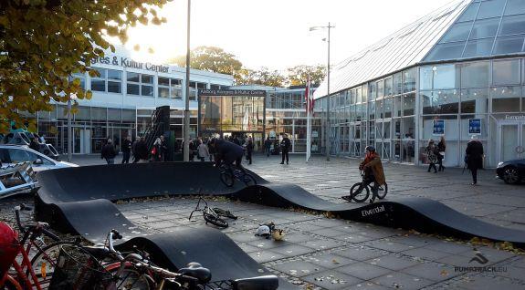 Circuito lúdico para bicicletas PC1 en Aalborg, Dinamarca.